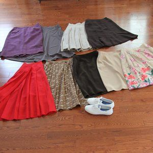 LOT of 9 Skirts New & Vintage, A-Line & Pencil